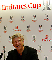 Photo: Richard Lane Photography. Emirates Cup Press Conference. 01/08/2008. Arsenal manager, Arsene Wenger.