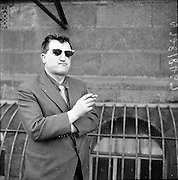 Brendan Behan leaving the High Court..09.02.1961