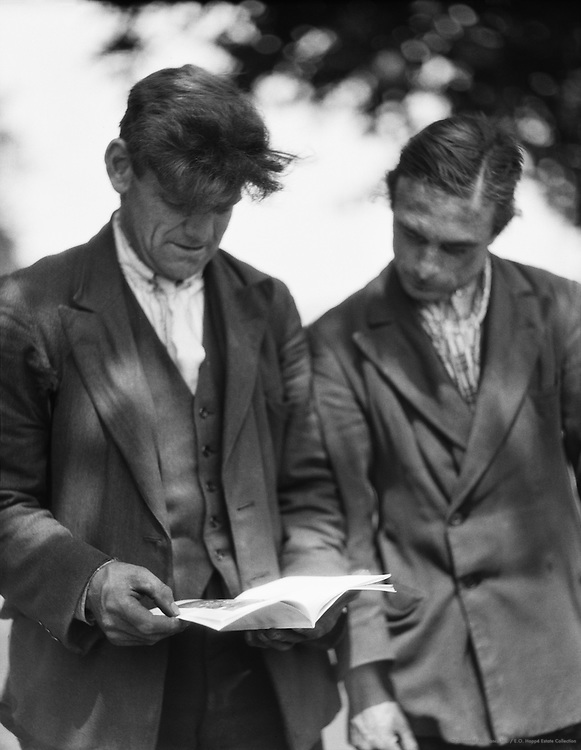 Dirty Dick and Mate with Book, London, 1933