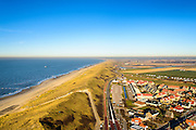 Nederland, Noord-Holland, Gemeente Schagen, 11-12-2013; de duinen bij het dorp Callantsoog gezien vanuit zee. De duinenrij is slechts een duin breed, de kust moet versterkt.<br /> The dunes near the village of Callantsoog seen from the sea. The coastal dunes count only one dune, strengthening of the dunens is needed.<br /> luchtfoto (toeslag op standard tarieven);<br /> aerial photo (additional fee required);<br /> copyright foto/photo Siebe Swart
