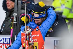 March 16, 2019 - –Stersund, Sweden - 190316 Anna Magnusson of Sweden celebrates with boyfriend Peppe Femling after the Women's 4x6 km Relay during the IBU World Championships Biathlon on March 16, 2019 in Östersund..Photo: Petter Arvidson / BILDBYRÃ…N / kod PA / 92268 (Credit Image: © Petter Arvidson/Bildbyran via ZUMA Press)