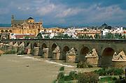 SPAIN, ANDALUSIA, CORDOBA 'La Mezquita' Mosque above River