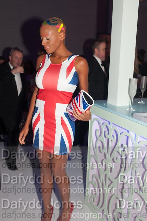 JET BLACK, Grey Goose Winter Ball to benefit the Elton John Aids Foundation. Battersea Power Station. London. 10 November 2012.