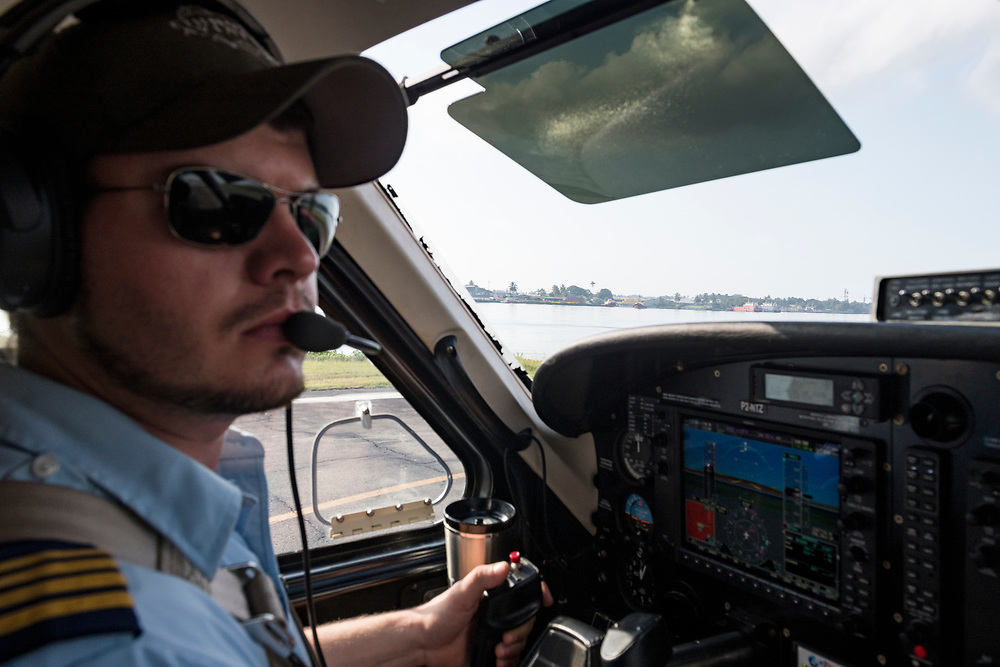 Josh Verdonck, piloting a Quest Kodiak 100 for Ethnos360 Aviation, prepares for take-off in Madang, Papua New Guinea<br /> <br /> (June 20, 2019)