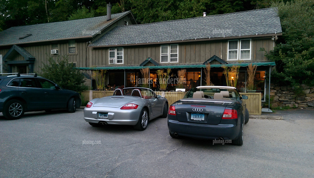 RSVP Restaurant West Cornwall CT. Exterior View at Dusk