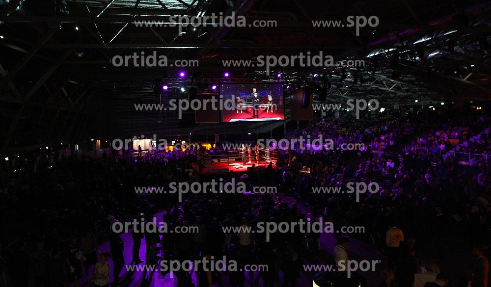 13.04.2019, Erste Bank Arena, Wien, AUT, Bounce Fight Night, Mittelgewicht, Marcos Nader (AUT) vs Gogi Knezevic (AUT), im Bild Uebersicht Erste Bank Arena // during Middleweight, with the fight betweeb Marcos Nader of Austria vs Gogi Knezevic of Austria of the Bounce Fight Night at the Erste Bank Arena in Wien, Austria on 2019/04/13. EXPA Pictures © 2019, PhotoCredit: EXPA/ Thomas Haumer