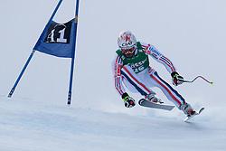 21.01.2011, Hahnenkamm, Kitzbuehel, AUT, FIS World Cup Ski Alpin, Men, Super G, im Bild Gauthier De-Tessieres (FRA) takes to the air competing in the 2011 Hahnenkamm Super Giant Slalom race (Super G)part of  Audi FIS World Cup races in Kitzbuhel Austria. EXPA Pictures © 2011, PhotoCredit: EXPA/ M. Gunn