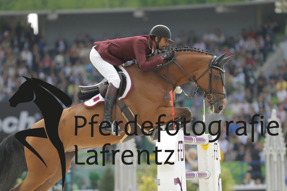 Al Thani, Shaik Ali bin Khali, Vienna Olympic<br /> Normandie - WEG 2014<br /> Springen - Finale IV<br /> © www.sportfotos-lafrentz.de/ Stefan Lafrentz