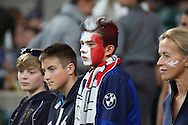 Expectant French fan during the Rugby World Cup Pool D match between France and Italy at Twickenham, Richmond, United Kingdom on 19 September 2015. Photo by Matthew Redman.