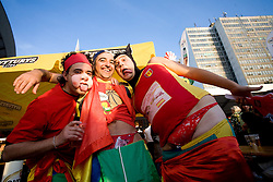 Spanish fans before the EuroBasket 2009 Semi-final match between Slovenia and Serbia, on September 19, 2009, in Arena Spodek, Katowice, Poland.  (Photo by Vid Ponikvar / Sportida)
