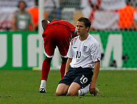 Photo: Glyn Thomas.<br />England v Trinidad & Tobago. Group B, FIFA World Cup 2006. 15/06/2006.<br /> England's Michael Owen looks dejected.