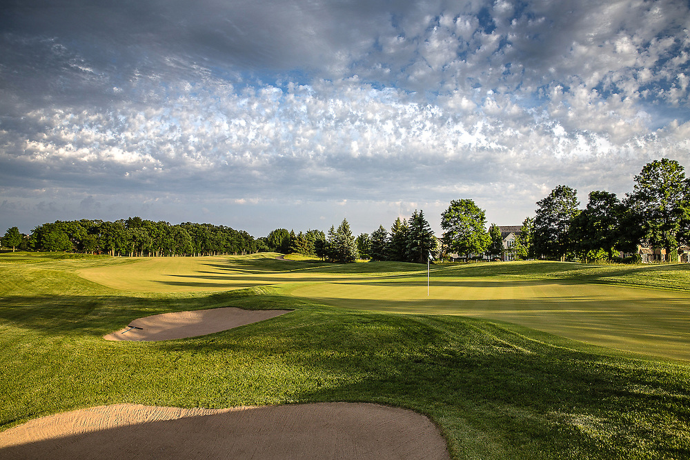 Thirteenth hole at Conway Farms Golf Course photographed in June 2015. ©Charles Cherney Photography