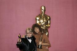 January 1, 1977 - Hollywood, California, U.S. - Barbara Streisand and Paul Williams, Best Song winners, Evergreen, Academy Awards. 1977..Preserved by Neil Diamond  (Credit Image: © Armando Gallo via ZUMA Studio)