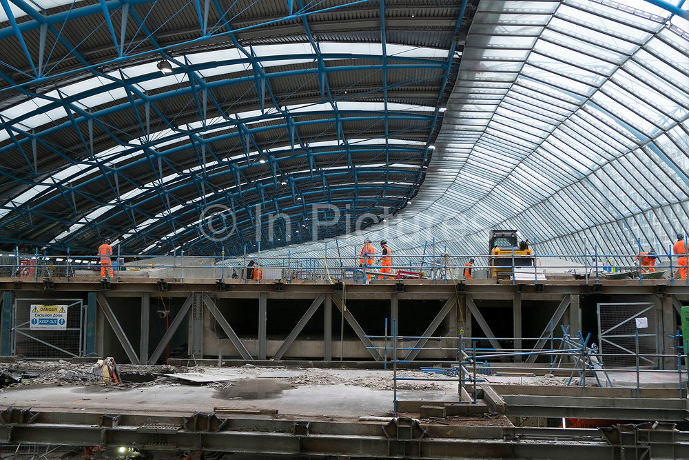 Redevelopment of the old Eurostar terminal at Waterloo Station one of London's main train transport stations in London, England, United Kingdom. (photo by Mike Kemp/In Pictures via Getty Images)