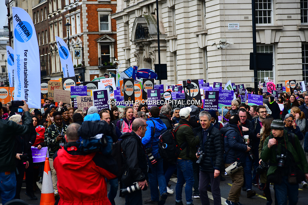 Hundreds join March4Women 2020, on 8 March 2020, London, UK