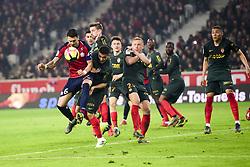 March 15, 2019 - Lille, France, FRANCE - Jose Fonte (Losc) vs LOPES Rony  (Credit Image: © Panoramic via ZUMA Press)