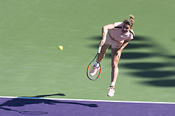 March 22, 2018 - Miami, FL, United States - Miami, FL - March, 22: Simona Halep (ROU) in action here, defeats Oceane Dodin (FRA) 36 63 75 at the 2017 Miami Open held at the Tennis Center at Crandon Park.   Credit: Andrew Patron/Zuma Wire (Credit Image: © Andrew Patron via ZUMA Wire)
