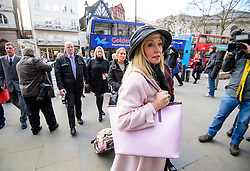 © Licensed to London News Pictures. 28/02/2017. London, UK. Family of survivors of the Tunisia terror arrive at the Royal Courts of Justice in London where Judge Nicholas Loraine-Smith handed down a ruling on the cause of death of 30 Britons gunned down by Seifeddine Rezgui, on a beach in Sousse, Tunisia.  Photo credit: Ben Cawthra/LNP