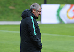March 20, 2018 - Na - Oeiras, 03/20/2018 - The National Team AA trained this morning with a view to preparing for the 2018 World Cup in the City of Soccer in Oeiras. Fernando Santos  (Credit Image: © Atlantico Press via ZUMA Wire)