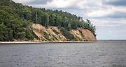 Klif Orłowski – stromy brzeg morski Kępy Redłowskiej w Gdyni - widok od strony molo