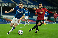 Football - 2020 / 2021 League Cup - Quarter-Final - Everton vs Manchester United - Goodison Park<br /> <br /> Everton Séamus Coleman under pressure from Manchester United's Alex Telles<br /> <br /> <br /> COLORSPORT/TERRY DONNELLY