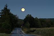 Wawayanda, New York  - The full moon rises on Sept. 19, 2013.