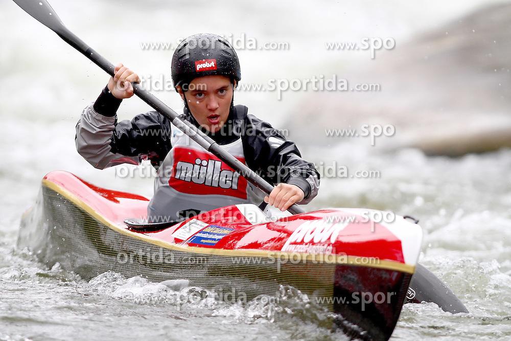 11.06.2011, Eiskanal , Augsburg, GER, ICF Wildwater Canoeing Sprint 2011 , im Bild  Annalena Kuttenberger (SUI), EXPA Pictures © 2011, PhotoCredit: EXPA/ nph/  Straubmeier       ****** out of GER / SWE / CRO  / BEL ******