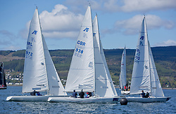Pelle P Kip Regatta 2019 Day 1<br /> <br /> Light and bright conditions for the opening racing on the Clyde keelboat season<br /> <br /> Etchells Start