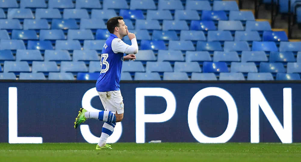 Sheffield Wednesday's Ross Wallace celebrates scoring the opening goal <br /> <br /> Photographer Chris Vaughan/CameraSport<br /> <br /> The EFL Sky Bet Championship - Sheffield Wednesday v Middlesbrough - Saturday 23rd December 2017 - Hillsborough - Sheffield<br /> <br /> World Copyright © 2017 CameraSport. All rights reserved. 43 Linden Ave. Countesthorpe. Leicester. England. LE8 5PG - Tel: +44 (0) 116 277 4147 - admin@camerasport.com - www.camerasport.com