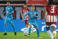 PIRAEUS, GREECE - OCTOBER 21: Valentin Rongier of Olympique de Marseille during the UEFA Champions League Group C stage match between Olympiacos FC and Olympique de Marseille at Karaiskakis Stadium on October 21, 2020 in Piraeus, Greece. (Photo by MB Media)