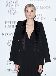 Gabriella Wilde attending the Harper's Bazaar Woman of the Year awards at Claridges in London. Picture date: Monday October 31, 2016. Photo credit should read: Isabel Infantes / EMPICS Entertainment.
