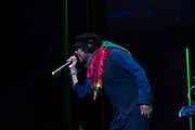 Reggae artist Maxi Priest at The Biolife Sounds of Regae at Brooklyn's Barclays Center.