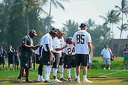 January 28 2016: Seattle Seahawks quarterback Russell Wilson calls a play during the Pro Bowl practice at Turtle Bay Resort on North Shore Oahu, HI. (Photo by Aric Becker/Icon Sportswire)