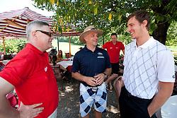 Kari Savolainen, Matjaz Kopitar and Goran Dragic at Anze's Eleven and Triglav Charity Golf Tournament, on June 30, 2012 in Golf court Bled, Slovenia. (Photo by Matic Klansek Velej / Sportida)