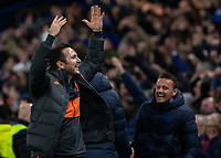 Football - 2019 / 2020 UEFA Champions League - Group H: Chelsea vs. Ajax<br /> <br /> Frank Lampard,  Manager of Chelsea FC,  celebrates after his team come from behind to rescue a draw at Stamford Bridge <br /> <br /> COLORSPORT/DANIEL BEARHAM