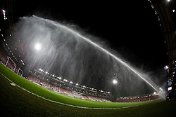 Ground prepare the pitch at Vitality Stadium ahead of tonight Premiership clash, Bournemouth v West Ham United - Mandatory by-line: Jason Brown/JMP - Mobile 07966 386802 12/01/2016 - SPORT - FOOTBALL - Bournemouth, Vitality Stadium - AFC Bournemouth v West Ham United - Barclays Premier League