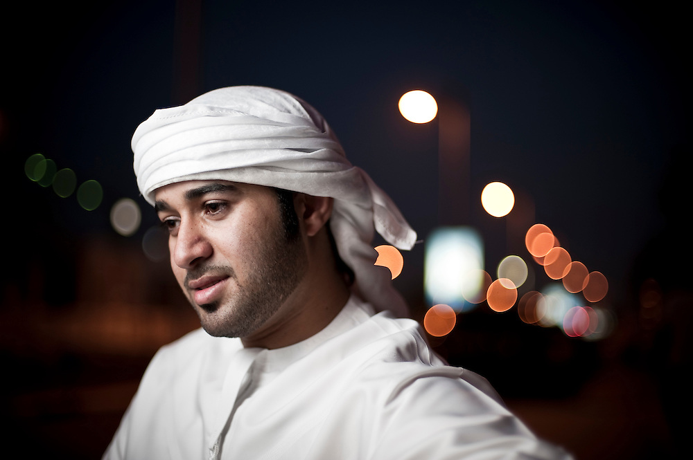 Saoud al Kaabi, Dubai based television personality and leading actor in the Dubai film City of Life, poses for a portrait at Al Ijaz Cafeteria, Jumeirah, Dubai on JUne 19, 2010. The cafeteria was used as a location in the film, 'City of Life'.