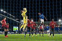 Football - 2020 / 2021 League Cup - Quarter-Final - Everton vs Manchester United - Goodison Park<br /> <br /> Everton Tom Davies collects the ball<br /> <br /> <br /> COLORSPORT/TERRY DONNELLY