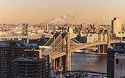 View of the Brooklyn Bridge and Manhattan Bridge from 150 Nassau Street