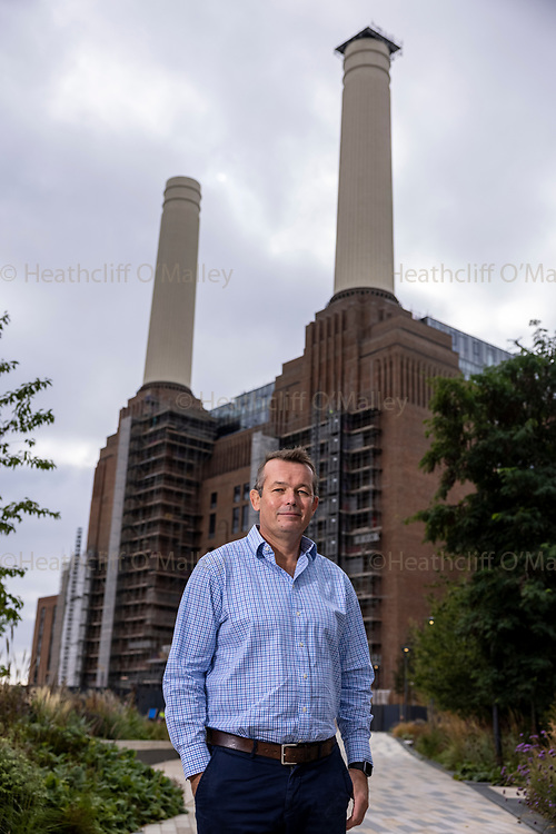 Mcc0101699. Daily Telegraph<br /> <br /> DT Business<br /> <br /> <br /> Battersea Power Station Development Co Ltd CEO Simon Murphy .<br /> <br /> The nearly completed Battersea Power Station development which contains a mixture of homes, retail and office space .<br /> <br /> Battersea once supplied one-fifth of London's electrical power when in operation and had been derelict for roughly 30 years when the site was bought in 2012 for £400m by a consortium from Malaysia.<br /> <br /> <br /> <br /> 15 September 2021