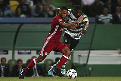 November 22, 2017 - Lisbon, Portugal - Olympiakos Piraeus midfielder Alaixys Romao and Sporting's midfielder William Carvalho during the UEFA Champions League group D match between Sporting CP and Olympiacos FC at Alvalade Stadium on November 22, 2017 in Lisboa, Portugal. (Filipe Amorim / Nurphoto) (Credit Image: © Filipe Amorim/NurPhoto via ZUMA Press)