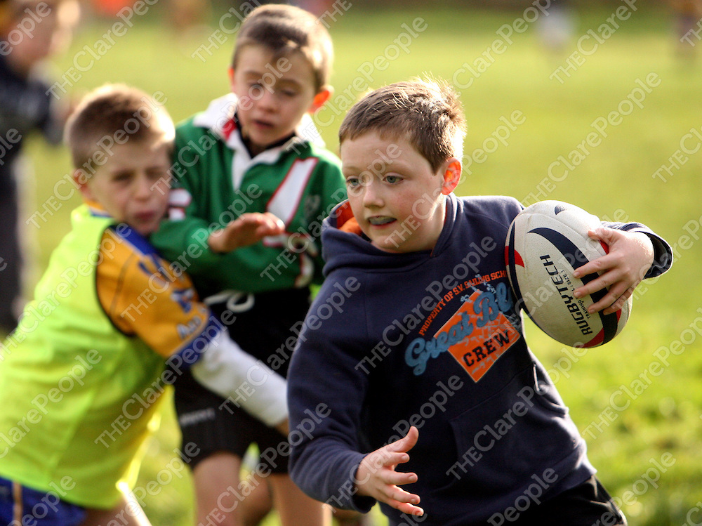 Niall Noonan in action at the East Clare Eagles rugby training in Tulla on Saturday morning.<br /><br />Photograph by Yvonne Vaughan.