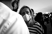 Giorgia Meloni. Comizio del centrodestra italiano durante la campagna elettorale per le politiche regionali 2020.  Bari 12 Settembre 2020. Christian Mantuano<br /> <br /> Italian center-right rally during electoral campaign for regional policies 2020. Bari 12 September 2020. Christian Mantuano