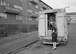 Mobile shop, Crabtree Farm Estate, Nottingham UK 1988