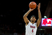DALLAS, TX - JANUARY 15: Keith Frazier #4 of the SMU Mustangs shoots a free-throw against the South Florida Bulls on January 15, 2014 at Moody Coliseum in Dallas, Texas.  (Photo by Cooper Neill/Getty Images) *** Local Caption *** Keith Frazier