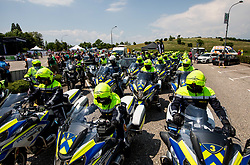 Police during 1st Stage of 27th Tour of Slovenia 2021 cycling race between Ptuj and Rogaska Slatina (151,5 km), on June 9, 2021 in Slovenia. Photo by Vid Ponikvar / Sportida