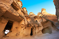 """Pictures & images of the fairy chimney cave churches of """"Pasaba Valley"""" near Goreme National Park, Cappadocia, Nevsehir, Turkey .<br /> <br /> If you prefer to buy from our ALAMY PHOTO LIBRARY  Collection visit : https://www.alamy.com/portfolio/paul-williams-funkystock/cappadociaturkey.html (TIP refine search - type which part of Cappadocia into the LOWER search box)<br /> <br /> Visit our TURKEY PHOTO COLLECTIONS for more photos to download or buy as wall art prints https://funkystock.photoshelter.com/gallery-collection/3f-Pictures-of-Turkey-Turkey-Photos-Images-Fotos/C0000U.hJWkZxAbg"""