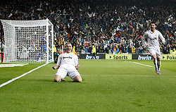 10.12.2011, Santiago Bernabeu Stadion, Madrid, ESP, Primera Division, Real Madrid vs FC Barcelona, 15. Spieltag, im Bild Real Madrid's Karim Benzema celebrates with Cristiano Ronaldo // during the football match of spanish 'primera divison' league, 15th round, between Real Madrid and FC Barcelona at Santiago Bernabeu stadium, Madrid, Spain on 2011/12/10. EXPA Pictures © 2011, PhotoCredit: EXPA/ Alterphotos/ Alvaro Hernandez..***** ATTENTION - OUT OF ESP and SUI *****