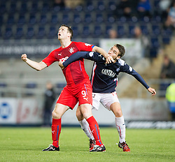 Rangers Daly and Falkirk's Luke Leahy. Falkirk 1 v 3 Rangers, Scottish League Cup game played 23/9/2014 at The Falkirk Stadium.
