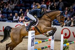 THENHAUSEN Tessa (GER), Casjopaja<br /> Finale HGW-Bundesnachwuchschampionat der Springreiter <br /> gefördert durch die Horst-Gebers-Stiftung <br /> In Memoriam Debby Winkler<br /> Stilspringen Kl. M*<br /> Nat. style jumping competition Kl. M*<br /> Braunschweig - Classico 2020<br /> 08. März 2020<br /> © www.sportfotos-lafrentz.de/Stefan Lafrentz